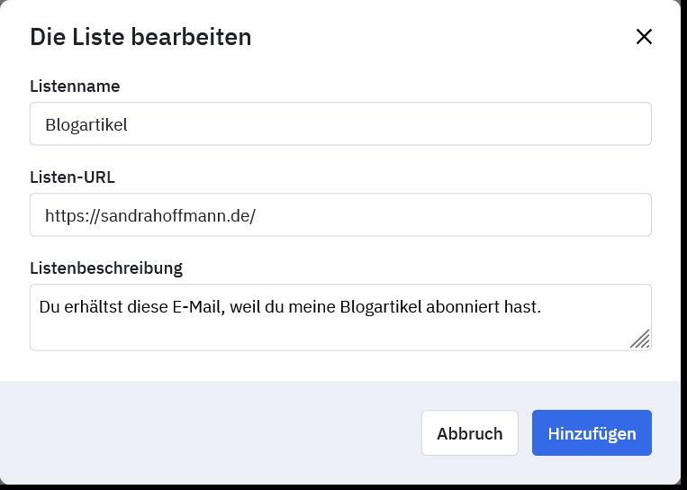 Liste Blogartikel in ActiveCampaign